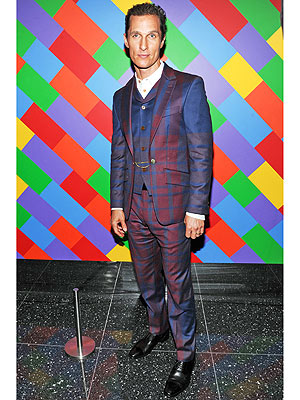 Matthew McConaughey plaid suit