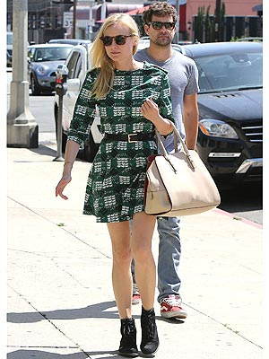 Diane Kruger Printed Dress