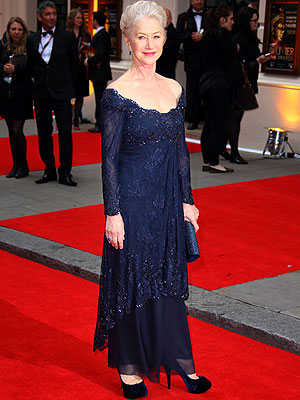 Helen Mirren Navy Dress