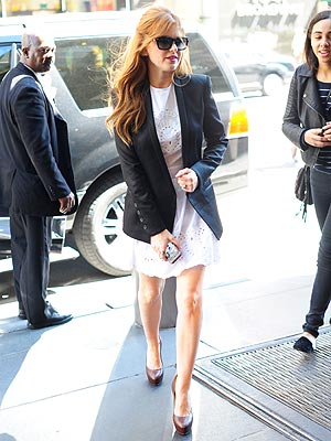 Isla Fisher Blazer and Dress