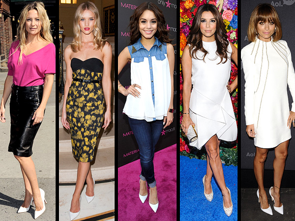 Stars wearing white pumps