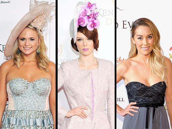 Celebrity derby hats