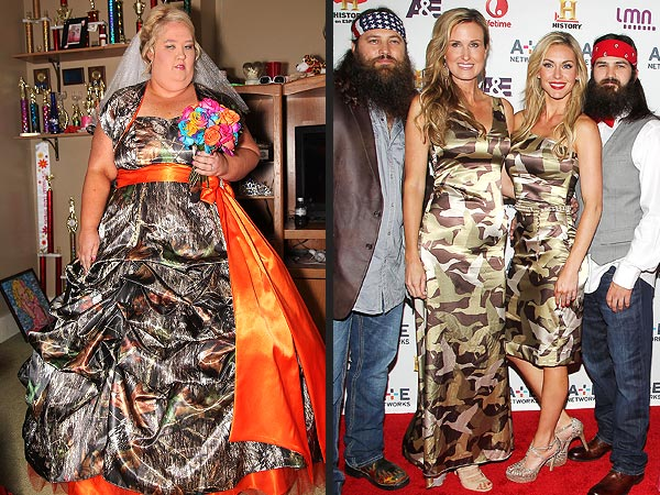 Honey Boo Boo Camo wedding dress