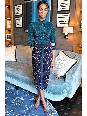 Zoe Saldana dress