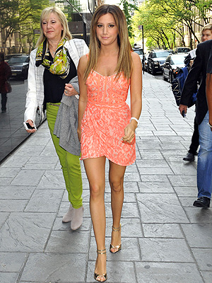Ashley Tisdale orange dress
