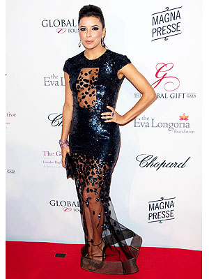 Eva Longoria see through gown