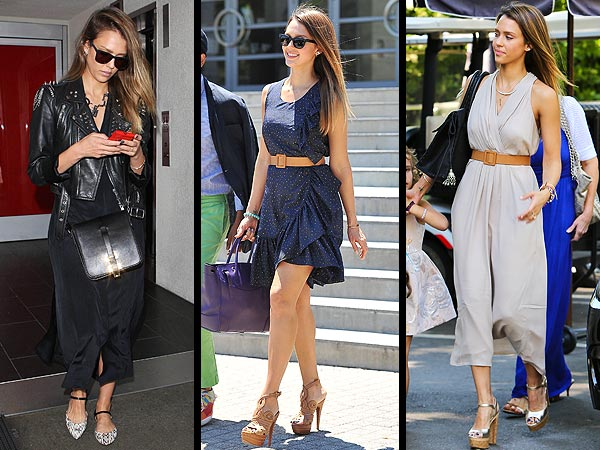 jessica alba 600x450 Jessica Alba: Three Days, Three Cute Outfits