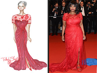 Octavia Spencer's Red-Hot Tadashi Shoji Cannes Gown: All the Exclusive Scoop