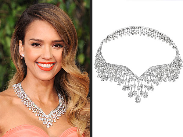 Harry Winston Jessica Alba diamond