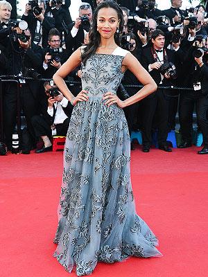 Zoe Saldana Cannes