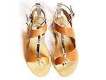 Loeffler Randall gold sandals