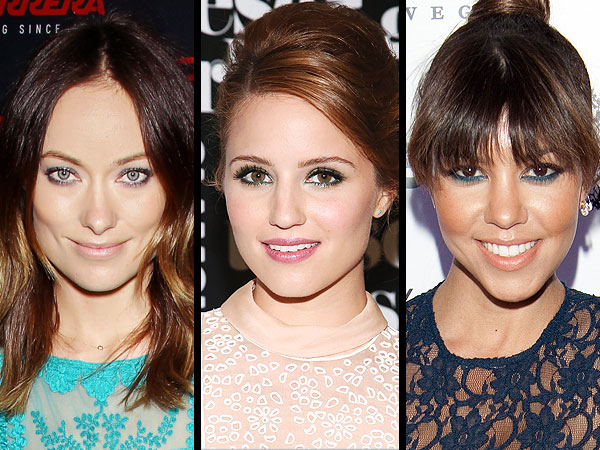 Celebrities in blue eyeliner