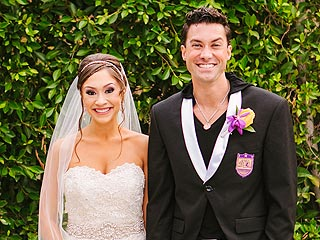 First Look! Full-Length Shot of Diana DeGarmo's Pearl-Embellished Wedding Gown