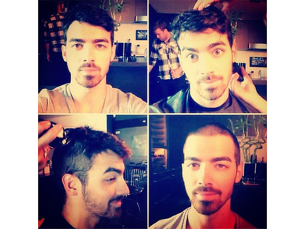 Joe Jonas Shaves Head