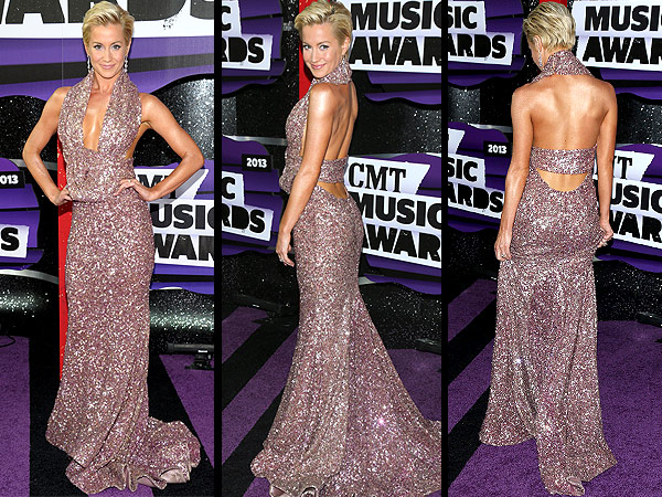 Kellie Pickler CMT Music Awards red carpet gown