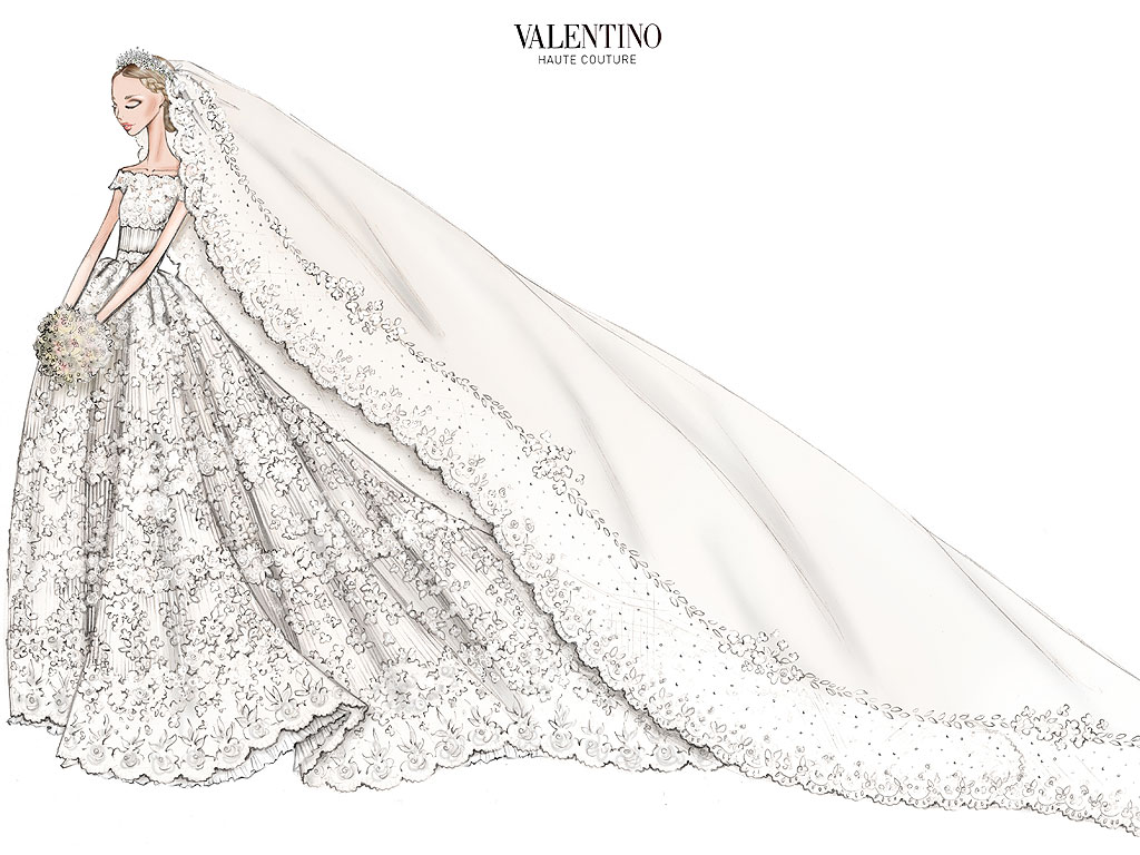 Princess Madeleine Wedding Dress Sketch