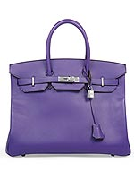 Purple Birkin bag