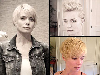 Jamie Pressly Rocks a Miley-Inspired Pompadour