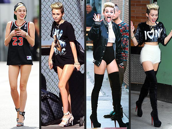 Miley Cyrus Pantsless Skimpy Clothing Tiny Shorts Style News Stylewatch