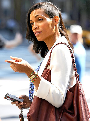Rosario Dawson shaved head