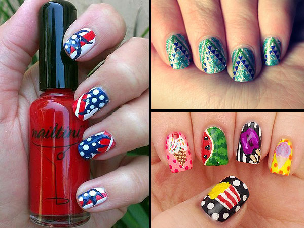 nails 600x450 Three Weekend Mani Ideas: From Patriotic to Food Inspired!