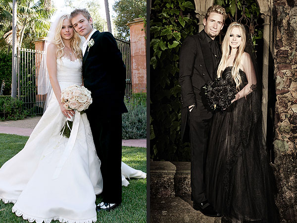 avril lavigne 600x450 Avril Lavigne's Black Wedding Gown: See the Full Length Photo Side by Side With Her First Dress