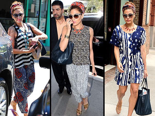 eva mendes 600x450 Eva Mendes Is Having a Major Mixed Prints Moment