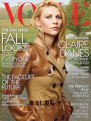 Claire Danes Vogue cover