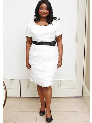 Octavia Spencer white dress