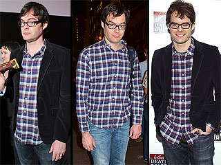 Does Bill Hader Need to Retire His Plaid Button-Ups? Someone Thinks So