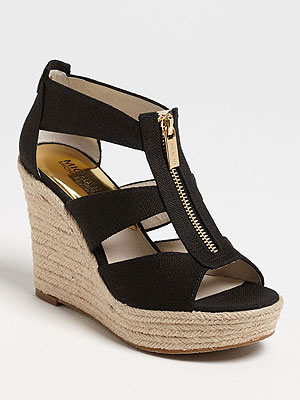 mk wedges 300x400 What We're Buying: Transitional Shoes, Fab Necklaces and Beachy Candles