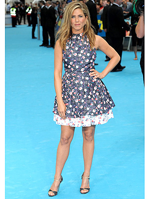 Jennifer Aniston floral Dior dress