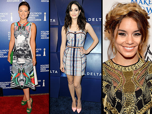 olivia wilde 600x450 Red Carpet Trend Report: The Scoop on 3 D Prints, Peach Pumps and the Most Bizarre Braid We've Seen All Summer