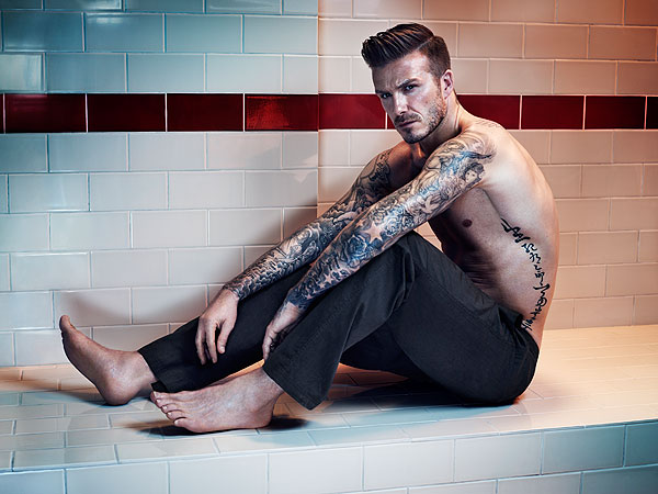 David Beckham Models Underwear for H&M