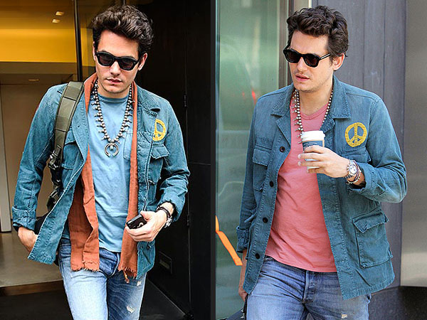 John Mayer Repeats Outfit