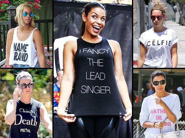 Celebrity statement tees