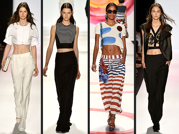new york fashion week crop tops