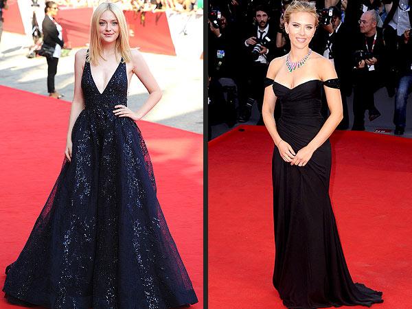 Scarlett Johansson Dakota Fanning Venice