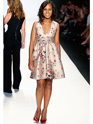 kerry washington 300x400 Surprise! Kerry Washington Hits the Runway at NYFW