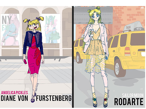 90s Cartoon Characters NYFW