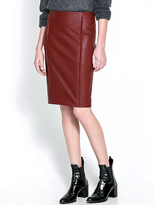 Zara leather pencil skirt