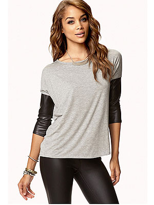 Forever 21 leather shirt