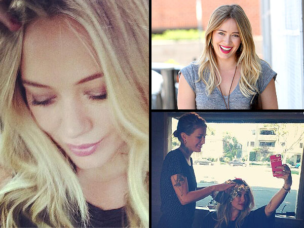 Hilary Duff dyes hair