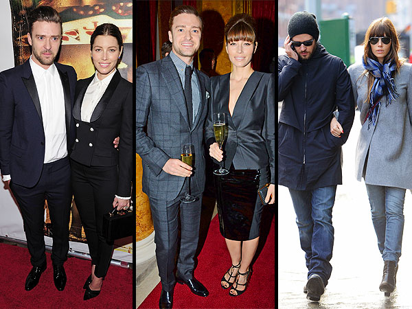 Justin Timberlake Jessica Biel matching outfits
