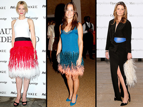 Cate Blanchett Feather Dresses