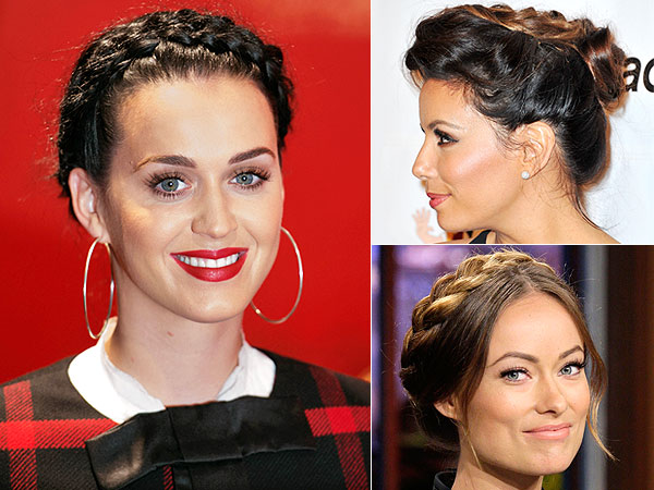 Katy Perry braids, Olivia Wilde braids