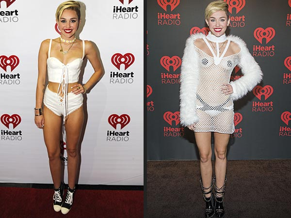 Miley Cyrus nipple covers I Heart Radio