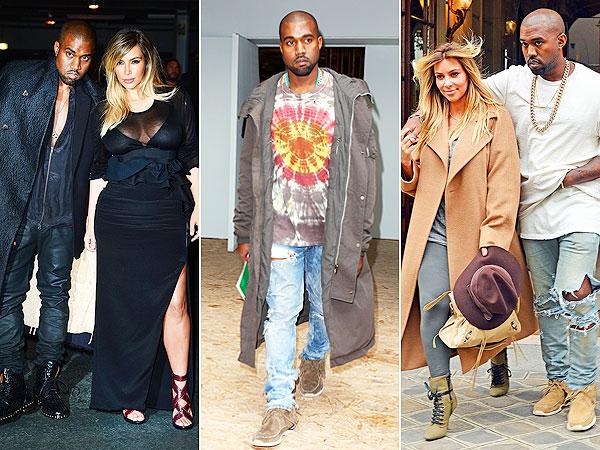 Kim Kardashian Kanye West Paris