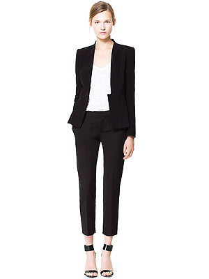 Zara pleated blazer