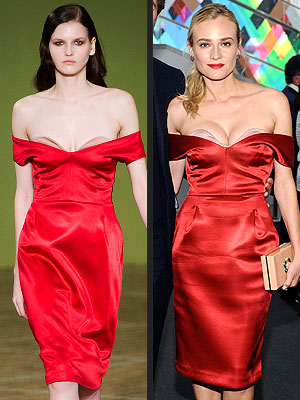 Diane Kruger red dress